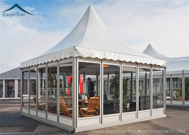 China European Aluminum Pagoda Tents With Glass Wall For Outdoor Event supplier