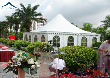 China Arabic Style White PVC Pagoda Tents  White Outdoor Tent Over 200 People supplier