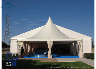 China Temporary Building Flexible Pagoda Tents Waterproof Canvas 6m x 6m Canopy supplier