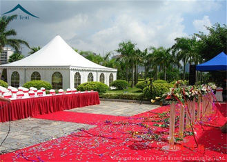 China White PVC Fabric Pagoda Tents Large Capacity Tent Clear Windows 6m * 6m supplier