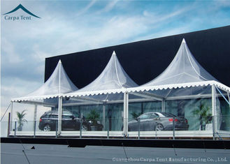 China White Marquee Pagoda Shape  Exhibition Event Tents For Conference supplier