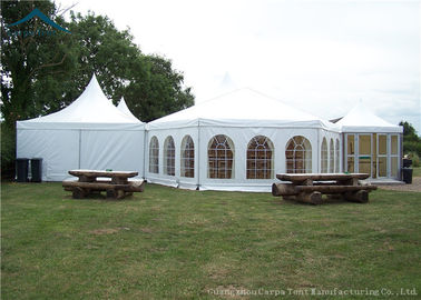 China Outdoor Mixed Huge European Style Tents Aluminum Heavy Duty Tents Wind - Resistant supplier