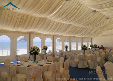 China Luxury Lining Decoration Large Event Tents With Aluminium Frame , Custom Canopy Tents supplier