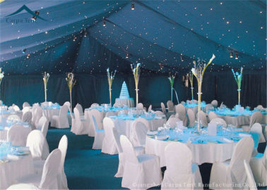 China Waterproof White Large Wedding Tents With Roof Linings / Curtains  20m * 50m supplier