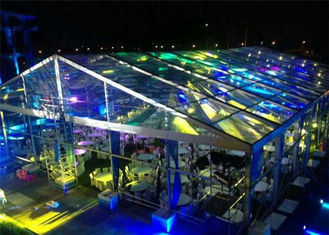 China Fire / Water Proof Transparent Tent Fabric Clear Event Tents 20m * 50m supplier