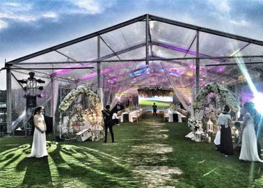 China European Style Customized  Large Wedding Glass Wall Tents For Parties supplier