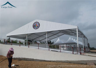 China White PVC Roof  Outdoor Sports Tents  Wide Space For 100 People supplier