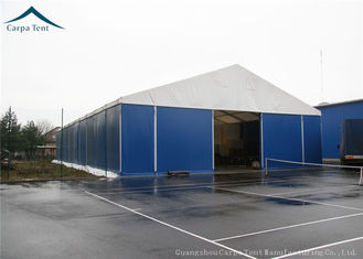 China 35m*50m Warehouse Tents Anti - Fire PVC Fabric 0.3-0.5kn/sqm High Pressed supplier