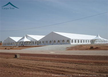 China Large Rainproof Clear Span Buildings  For Temporary Warehouse , ABS Side Wall supplier