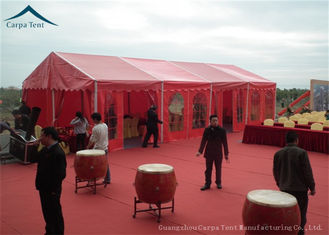 China 15m  x  20m Large Wedding Tents With Red PVC Wall , Aluminum Structure Tent supplier