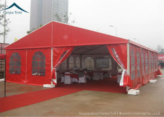 China Durable Red Event Tents , Chinese Style Wind Load 100km/h Outdoor Tents , Customized Tent supplier
