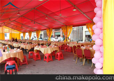 China Functional Red Outdoor Event Tents For Wedding And Party 10m * 25m supplier