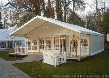 China Beautiful Lining Decorations Glass Wall Tents With Aluminum Structure supplier