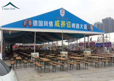 China Large Fabric Clearspan Structure And Canopy Fire / Wind Resistant Over 100 People supplier
