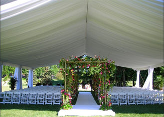 China 200 People Luxury Outdoor Wedding Tent With Decorations Water Retardant PVC Fabric supplier