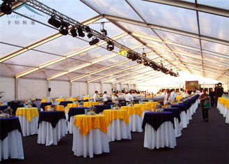 China Modular Frame Transparent Tent For Wedding Party Decorative Drapes supplier