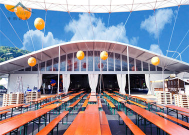 China 25m By 45m Aesthetically Luxury Aluminum Tents With Dome Roof supplier