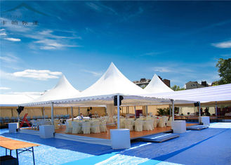 China White Heavy Duty Pagoda Tents  For Wedding  PVC Fabric UV - Resistant supplier