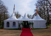 China Festivals Exhibitions Pagoda Tents With Glass Wall Wooden Floor factory