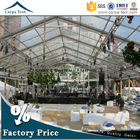 China 500 People Luxury Transparent Wedding Tent With Clear Roof 100% Waterproof factory