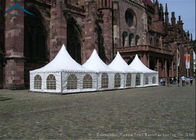 China White Pagoda Tents / 5m * 5m Outdoor Event Tents For Business Activities factory
