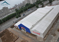 China Inner Exhibition Tents Rainproof Canvas Canopy Black Business 15mx30m factory