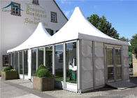 China Aluminum Frame Pagoda Party Tent  Glass Wall For Outdoor Event factory