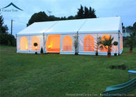 China White Roof  Durable Event Tents With Linings And Curtains 10m * 15m factory