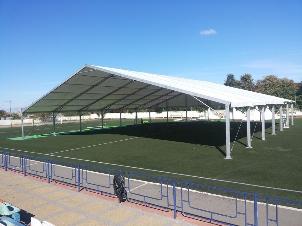 & White 600 People Clear Canopy Tent For Ice Rink Ice Hockey Football