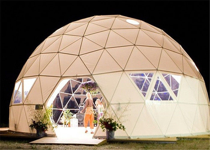 & Customized Geodesic Dome Tent Steel Structure Temporary Banquet Halls