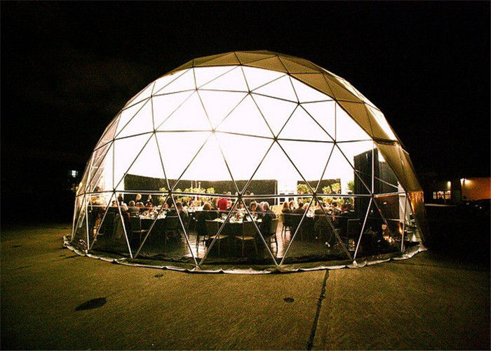 Rainproof Canvas Geodesic Dome Tent Easy To Install Small