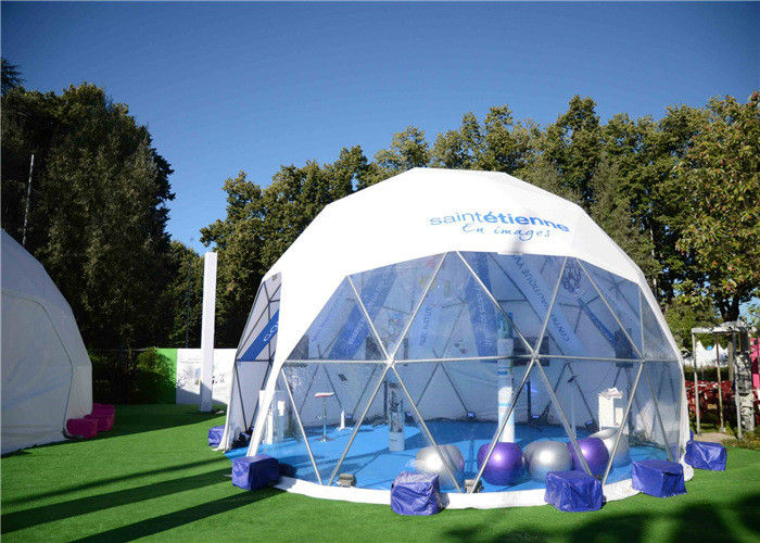 & 100 People Modular Structure Dome Event Tent With Clear Sidewall