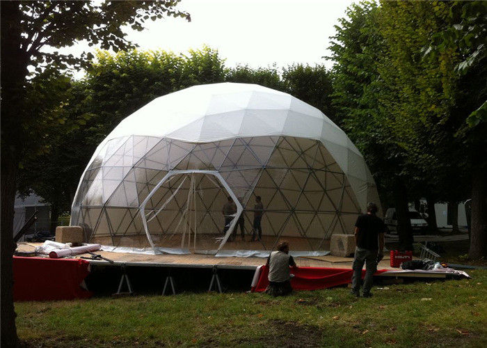 Advertising Wind Proof Fabric Sidewall Geodesic Dome Tent