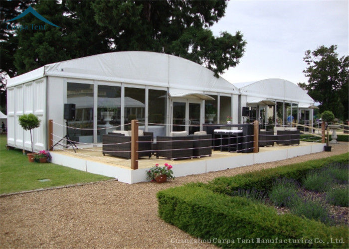 Dome White Marquee Tents Aluminium Fireproof Pvc Roof For