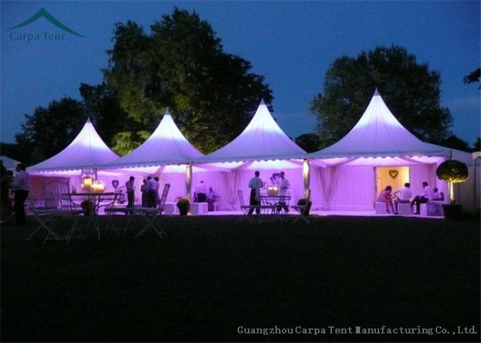 unique features large 5m by 5m party tent with gorgeous decoration manufactured in guangzhou