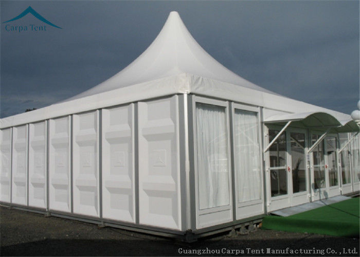 & ABS Solid Wall Luxury Pagoda Tents For Commercial Activities 8m * 8m