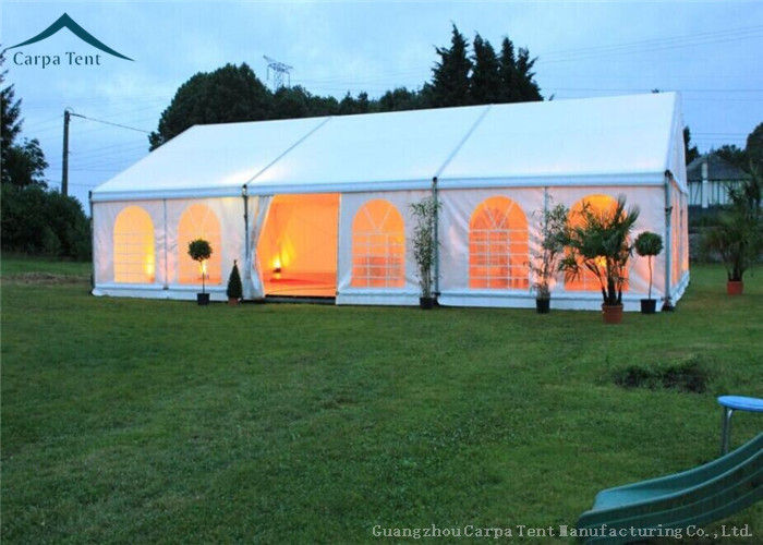 & White Roof Durable Event Tents With Linings And Curtains 10m * 15m