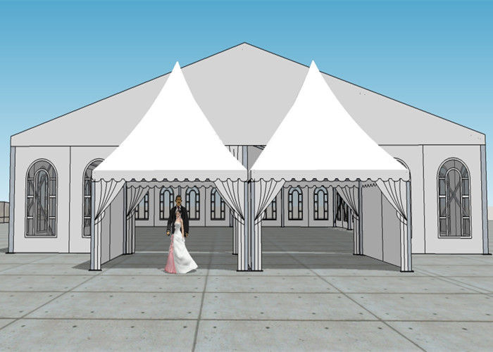 Arabic Style Outdoor Party Tent 18m By 45m White PVC Fabric Wall Canopy Tent : white outdoor canopy tent - memphite.com
