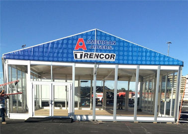 China 20m * 20m Large Temporary Outdoor Glass Wall Tents Exhibition Marquee factory