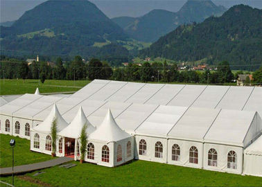 China Family Banquet Wedding Tents Double Single Wing Glass Door Automatic Manual factory