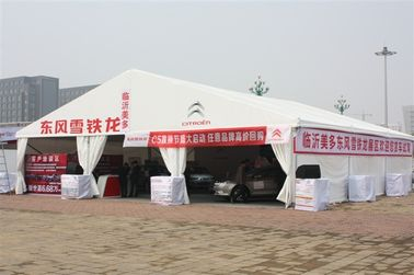 China Timeless Exhibition Tents Fireproof Canvas Solid ABS Walls With Clear Windows factory