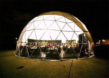 China Rainproof Canvas Geodesic Dome Tent Easy To Install Small Party Marquees Tent factory