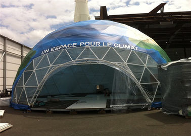 China White PVC Wind Resistant Sidewall Party Geo Dome Tent With Steel factory