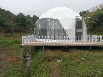 China 6m Outdoor Small Geodesic Dome Shelter For Resorts Flame Retardant DIN4102 B1 M2 B1 distributor