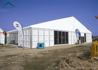 China Business Application Large Aluminium Frame Tents With ABS Solid Wall distributor