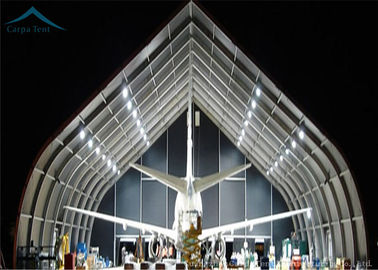 China Spacious Water Proof  Aircraft Hangar Outdoor Warehouse Canopy Tent  With Aluminium distributor
