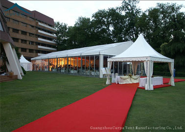 China Western Style Outdoor Event Tents With Double - Wing Glass Doors 15 Meters By 30 Meters factory
