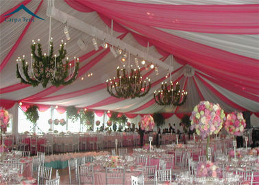 China European Style Wedding Reception Tent Waterproof Canopy Tent PVC Fabric distributor