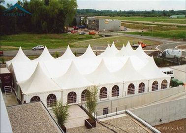 China White Outdoor Party Pagoda Tents  PVC Roof  Canopy Wedding Tent Water Proof 6m * 6m factory