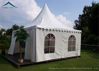 China 850g/Sqm PVC Polyester Coated Gazebo Tents White For Promotional Show factory